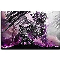 Brillante imagen de dragón en formato lienzo: 120x80 cm. Impresión del arte de alta calidad como un mural. Más barato que una pintura al óleo! ADVERTENCIA! NO Poster