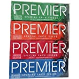 #6: PREMIER Box FACE Tissue 100 PULLS 2PLY(Pack of 4)