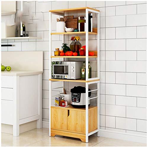 Shelfdq cucina rack multi-strato rack di stoccaggio a casa multi-funzione forno a microonde rack portaspezie (colore : beige, dimensioni : 5tier)