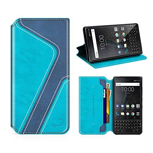 MOBESV Smiley Funda Cartera Blackberry Key2, Funda Cuero Movil Blackberry Key2...