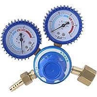 0-25MPa, 0-4MP Regulador de Presión de Oxígeno de Latón Medidor Doble de Presión Baja y Alta para Regulador de Oxígeno Corte de Soldadura