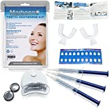 Teeth Whitening Kit - Professional Teeth Whitening at Home includes LED Light and Whitening Gel - Marbonne Activated Teeth Whitening Gel provides Fast Results - Backed with our Money Back Guarantee!