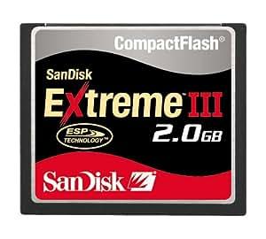 SanDisk Extreme III CompactFlash 2GB Memory Card