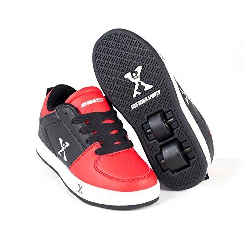 Sidewalk Sport Street Kinder Rollen Schuhe Sneaker Turnschuhe Rollschuhe Black/Red