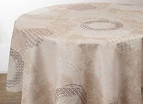 Nappe anti-taches Brush - taille : Ovale 150x240 cm