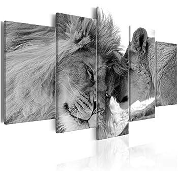 wunderschöner Lotus schwarz//weiß Leinwandbild Wanddeko Kunstdruck