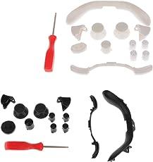 MagiDeal 2 Set Schwarz + Weiß Trigger Auslöser Tasten Ersatzteil LB RB LT RT ABXY Controller-Knöpfe für Xbox 360 Gamecontroller