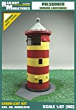 Bahnhof Miniaturen rmh0: 048Pilsumer Leuchtturm Diorama, 9,9x 8,4x 17,6cm