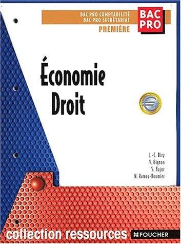 Economie, droit, Bac pro comptabilité, Bac pro secrétariat, 1ère