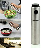 #2: Rrimin 1pc Stainless Steel Olive Pump Spray Fine Bottle Oil Sprayer Pot Cooking Tool