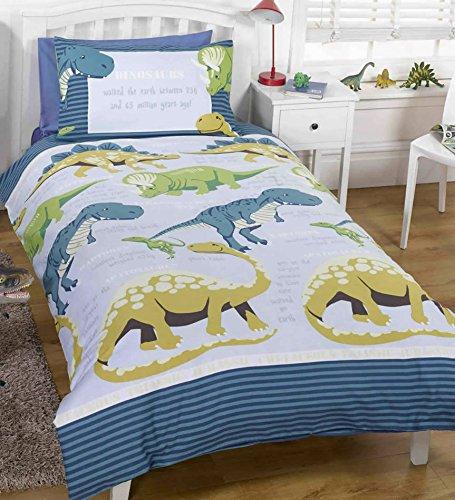 Dino Facts Childrens Duvet Set, Blue, Single
