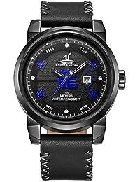 Weide Big & Bold Dial ,Original JAPAN MIYOTA 2115 Movement , Genuine Leather Analog Watch 1509B-4C
