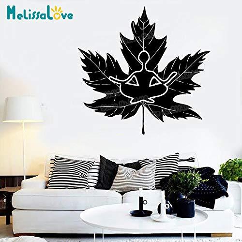 woyaofal Design Wandaufkleber Vinyl Aufkleber Zen Buddhismus Religion Nirvana Natur Aufkleber Removable Art Murals Einzigartiges Geschenk Y 45x42 cm