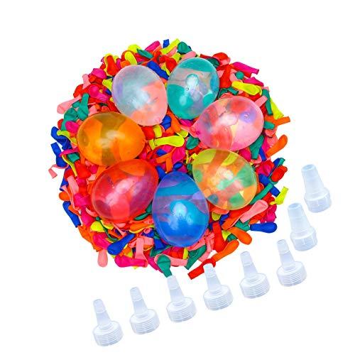 LuLyL Paquete de 1200 Globos de Agua con 8 Kits de Recarga de Bombas de látex para Juegos de Lucha para niños y Adultos al Aire Libre Bombas de Agua Juegos de Lucha