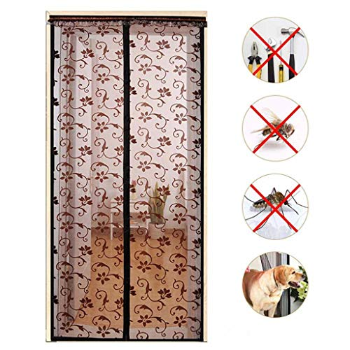 CHENG Magnet Fliegengitter Balkontür, Anti-Mosquito Insekt Hände frei, 10 x Stärker als Normales Polyester Fliegen Netz ohne Bohren ist Ideal für die Balkontür, Kellertür 85×215cm(33×85inch)
