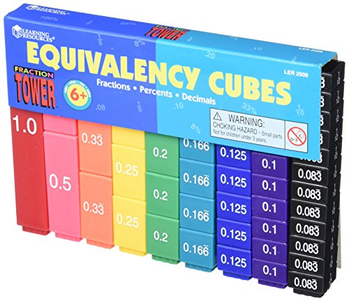 Preisvergleich Produktbild Fraction Tower Activity Set, Math Manipulatives, for Grades 1-6