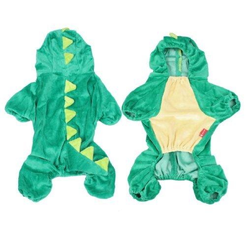 stüm-Dinosaurier-Entwurf Hund Pudel-Mantel-Kleidung Overall Jumpsuit L (Pudel Halloween Kostüme)