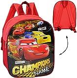alles-meine.de GmbH Kinder Rucksack -  Disney Cars - Lightning McQueen  - incl. Name - wasserfest & beschichtet - Kinderrucksack / groß Kind - Jungen - Tasche - z.B. für Kinder..