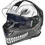RT-824 Integralhelm Motorradhelm Kinderhelm Motorrad Integral Roller Helm rueger, Größe:L (59-60), Farbe:Black Hollow