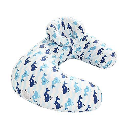 Oreiller d'allaitement de bébé, oreiller d'allaitement de soutien de forme de U de grossesse de maternité de retour, oreiller de coton démontable et lavable 46 * 45 * 10cm