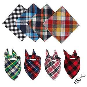 nuoshen Lot de 8 Bandanas triangulaires pour Chien