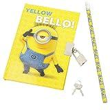 Minion Yellow Bello Tagebuch mit Schloss für Mädchen und Jungs