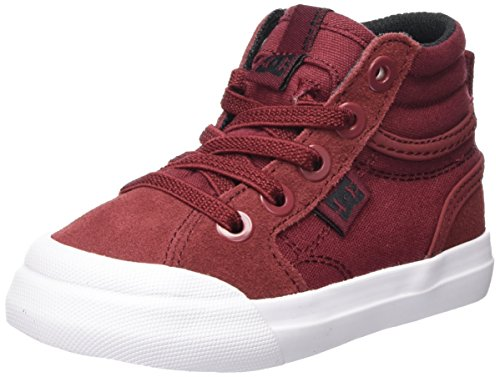 Dc-high-tops Rot Schuhe (DC Shoes Jungen Evan Hi Sneaker, Rot (Deep Red), 20.5 EU)