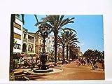 AK Costa Brava/Lloret De Mar/Fuente de Canaletas y Paseo - Ladengeschäfte, Hotels - Spanien, Gelaufen.
