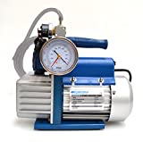 Vakuumpumpe 70 L/MIN mit vakuumschalter vakuummeter VIDEO Unterdruckpumpe NEU
