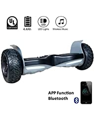 """EVERCROSS 8.5"""" Hoverboard Scooter Patinete del mano Eléctrico Bluetooth APP self balancing (Black)"""