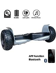 EVERCROSS Challenger Basic Hoverboard 8.5Pouces Noir Tout-terrain Smart Trottinette Électrique (Noir)