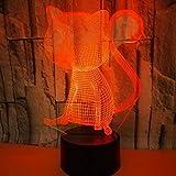 Busjk Berühren Sie die Fernbedienung Nachtlichter Schlankes 3D-Nachtlicht Mit Großen Augen Und Katze 3D-Fernbedienung Mit Ferngesteuerter Lichtdekoration Kleine Tischlampe