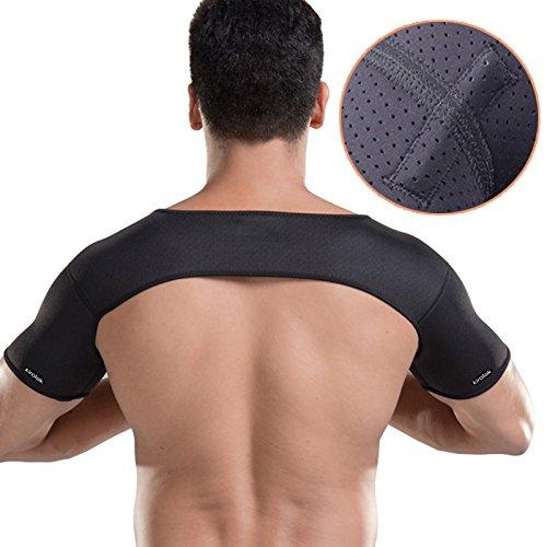 KIROLAK magnetische doppelte Schulter-Unterstützung, Sport-Schulter-Schutz-Klammer-Bügel-doppelte Schulter-Klammer-Unterstützung für Verpackungs-Verletzung-Verhinderung und Wiederaufnahme (100cm Snowboard-paket)