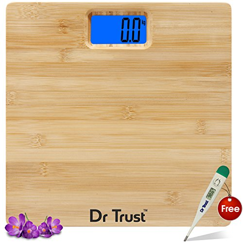 Dr. Trust (USA) Sapphire Weighing Scale (180 Kgs) and Dr Trust Digital thermometer Free - ZGP-02 (Black)