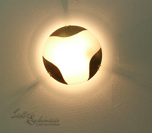 Rustikale Wandleuchte/Deckenleuchte im Jugendstil E27 Ränder in Blattgold/Wandlampe Deckenlampe...