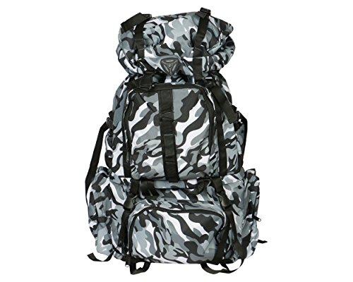 President Hulk Hiking Bag - Multi Colour - Tough 1000D Polyester Fabric - 70 cm H x 37 cm L x 22 cm B  available at amazon for Rs.1999