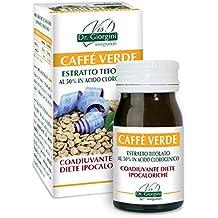 Dr. Giorgini Integratore Alimentare, Monocomponenti Erbe Caffè Verde Estratto Titolato al 50% in Acido Clorogenico Pastiglie - 30 g