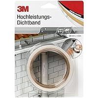 3M DICHT38 Hochleistungs Dichtband, 38 mm x 1,5 m x 1,0 mm, weiß und transluzent, 1er Pack