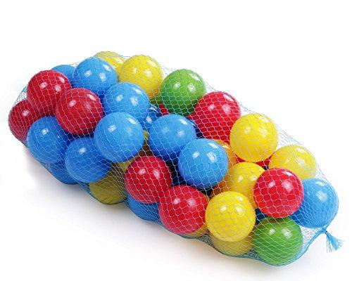 Badebälle Ballset Bälle für Bällebad 50 Stück Bälleparadies für Kinder mit Ballnetz