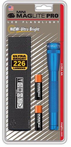 Mag-Lite Mini Pro LED Taschenlampe, 226 Lumen, ANSI Standard getest, blau SP2P11H