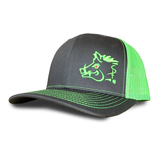 best sneakers 42ea0 15999 Oil Field Hats Gray Lime Green Sniper Pig Cap - SPH805