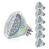 MR16 LED Leuchtmittel, 6er MR16 GU5.3 12V LED Lampe, 5W Neutralweiß Ersetzt 45W Halogenlampe, 450Lumen Birne, 120° Abstrahwinkel Spot, Nicht Dimmbar