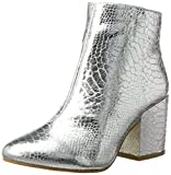 Buffalo Shoes Damen 416-6358 METALLIC Snake PU Stiefel, Silber (Silver), 38 EU