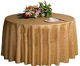 Hochzeiten Bankette Hotels Tischtennis Zubehör Runde Tischdecken 220 * 220CM (Light Golden)