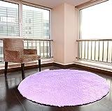 XNNSH 32 Pollici di Lusso Area Rotonda tappeti Super Soft Soggiorno Camera da Letto Tappeto Donna Yoga Mat,Purple,L