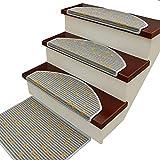 Stufenmatten Treppenstufen-Teppiche   Modernes Design-Teppich-Treppenpads Rutschfeste/Rutschfeste Selbstklebende Unterlage   Treppenstufen Aus Polypropylen (Farbe : Pack of 1, größe : 80×24×3cm)
