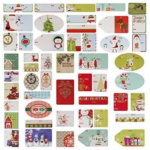 Kesote 9 Hojas Pegatina Navidad Etiquetas Navideñas