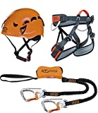 Climbing Technology Plus Kit Ferrata, Casco con Imbrago Set,