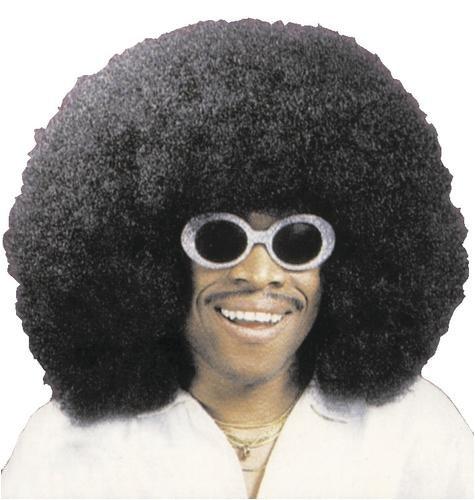 Super Afro Perücke Schwarz Schwarz,mit Afro-Kamm