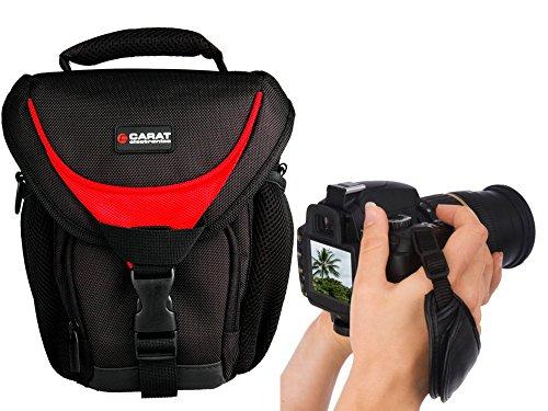 Foto Kamera Tasche Halfter Professional TOUGH mit SNIPER Gurt im Set mit SLR Handgriff Echt-Leder